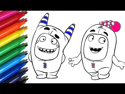 Coloring Pages ODDBODS 3 Painting With Watercolor Markers - Color Toys For Kids