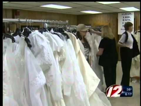 Salvation Army Holds Wedding Gown