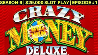 CRAZY MONEY Deluxe Slot Machine Max Bet Bonuses & BIG WIN | Season 9 | Episode #2