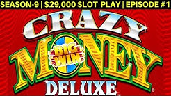 CRAZY MONEY Deluxe Slot Machine Max Bet Bonuses & BIG WIN | Season 9 | Episode #2