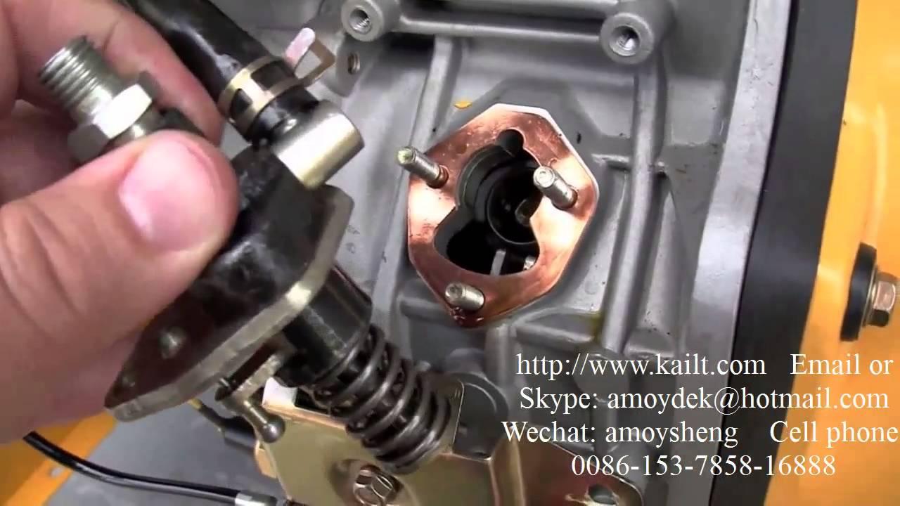 how to adjustment fuel pump for air cooled diesel generator fuel pump adjustment form amoysheng 163 [ 1280 x 720 Pixel ]