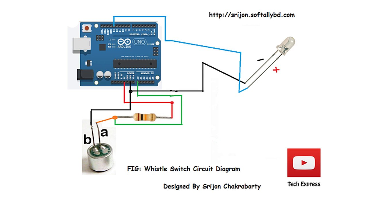 How To Make Whistle Activated Light Switch With Arduino
