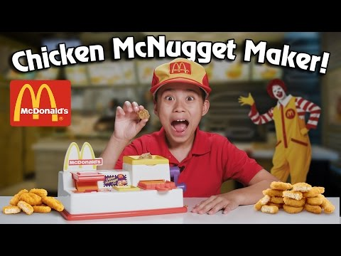 McDonald's CHICKEN McNUGGET MAKER!!! Turn Bread Into Chicken!