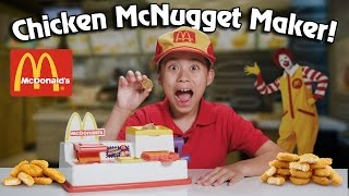 McDonald's CHICKEN McNUGGET MAKER!!! Turn Bread Into Chicken! thumbnail