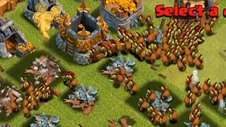 Clash of clans - 300 Goblin troop Raid (Get dAt Monie)