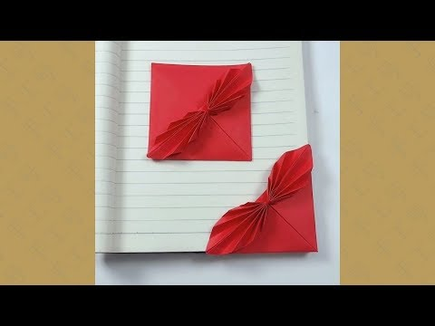 #Origami #handmade #diy Handmade origami, stack a paper corner for your notebook