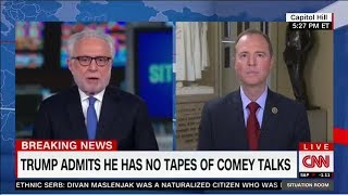 Rep. Schiff on CNN: Why Did President Try to Intimidate Comey with Tapes Tweet