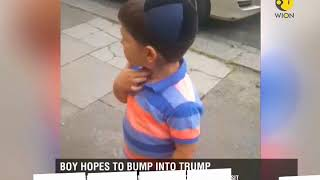 Your Story: Little boy eagerly awaits for Donald Trump's visit to London