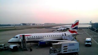 HD Timelapse: London City Airport Easterly Sunrise Operations
