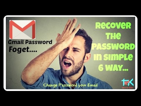 What can you do if forgot your gmail password