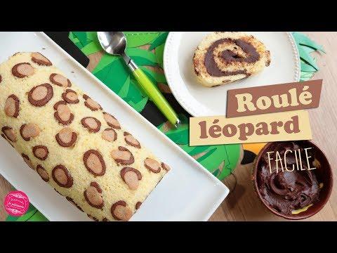 🐆-gateau-roule-leopard-~-recette-facile-🐆
