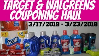 TARGET & WALGREENS COUPONING HAUL 3/17/2019 - 3/23/2019 + GIVEAWAY