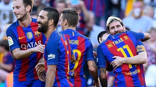 алавес 0:6 Барселона  Чемпионат Испании 2016/17  22-й тур  Обзор матча 11.02.2017
