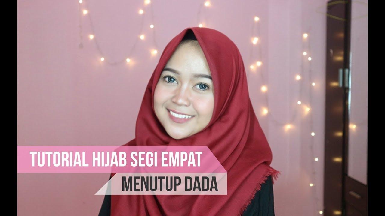 hijab segi empat rawis menutup dada untuk sehari-hari simpel banget