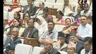 PM KP Oli speaks in the Parliament house