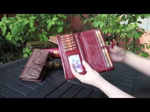 Кожаный кошелёк Kavis - оригинальный с Алиэкспресс