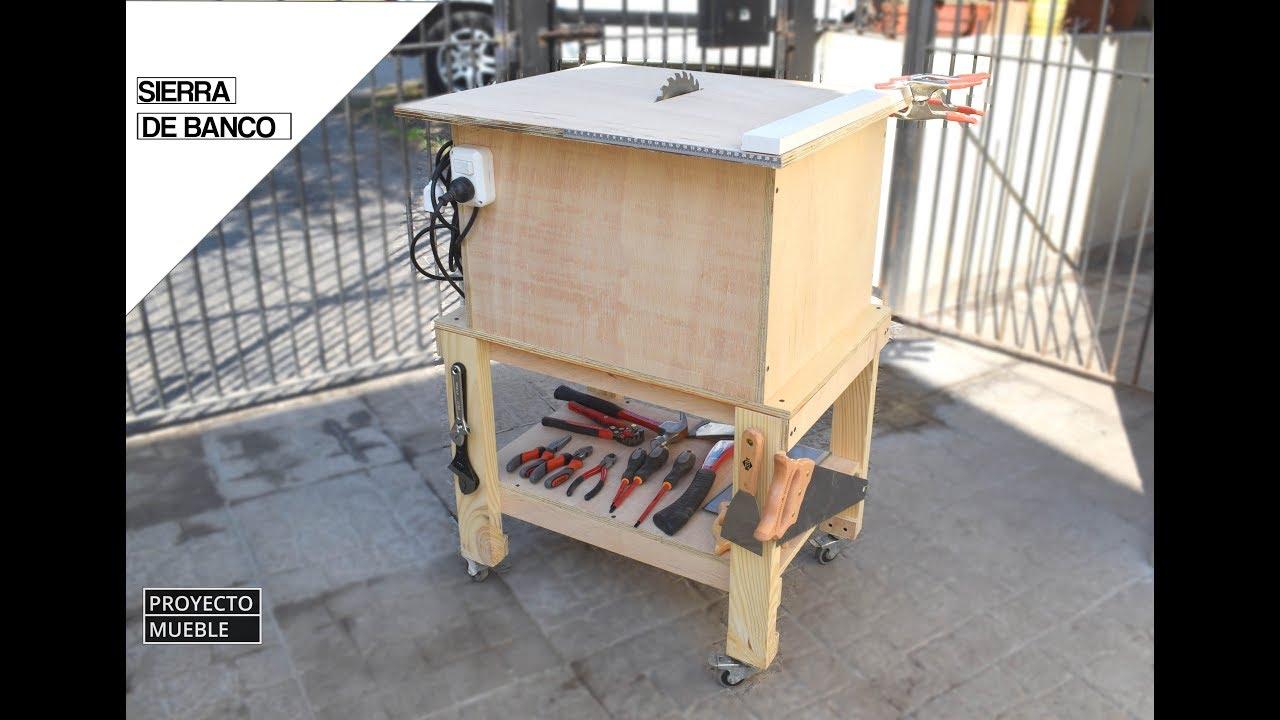 Como hacer sierra de banco con sierra circular estaci n - Mueble para herramientas ...