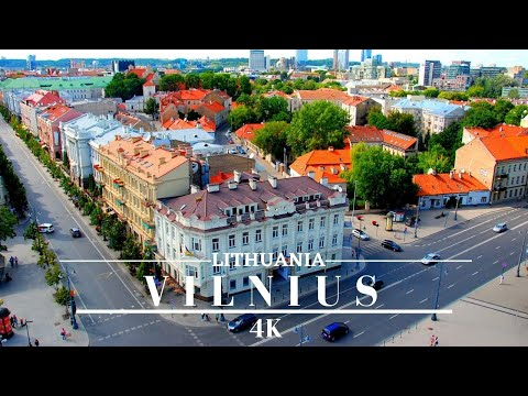 Vilnius Lithuania 4k 🇱🇹 by Drone Wonderful Summer Footage