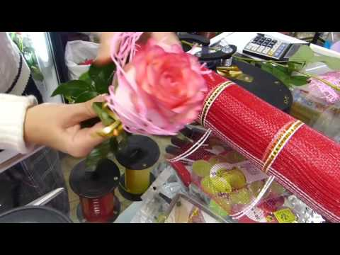 4 способа оформления бутона розы. Старое и новое. Флористика для чайников.