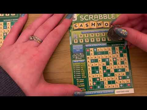 £3 Scrabble Cashwords Scratch Cards, £300,000 Jackpot, UK National Lottery, January 2020