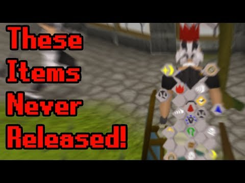10 Unreleased Or Unobtainable Items (Old School RuneScape)