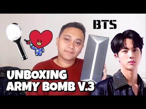 BTS OFFICIAL LIGHTSTICK ARMY BOMB VER.3 UNBOXING [Bahasa Indonesia] Mp3