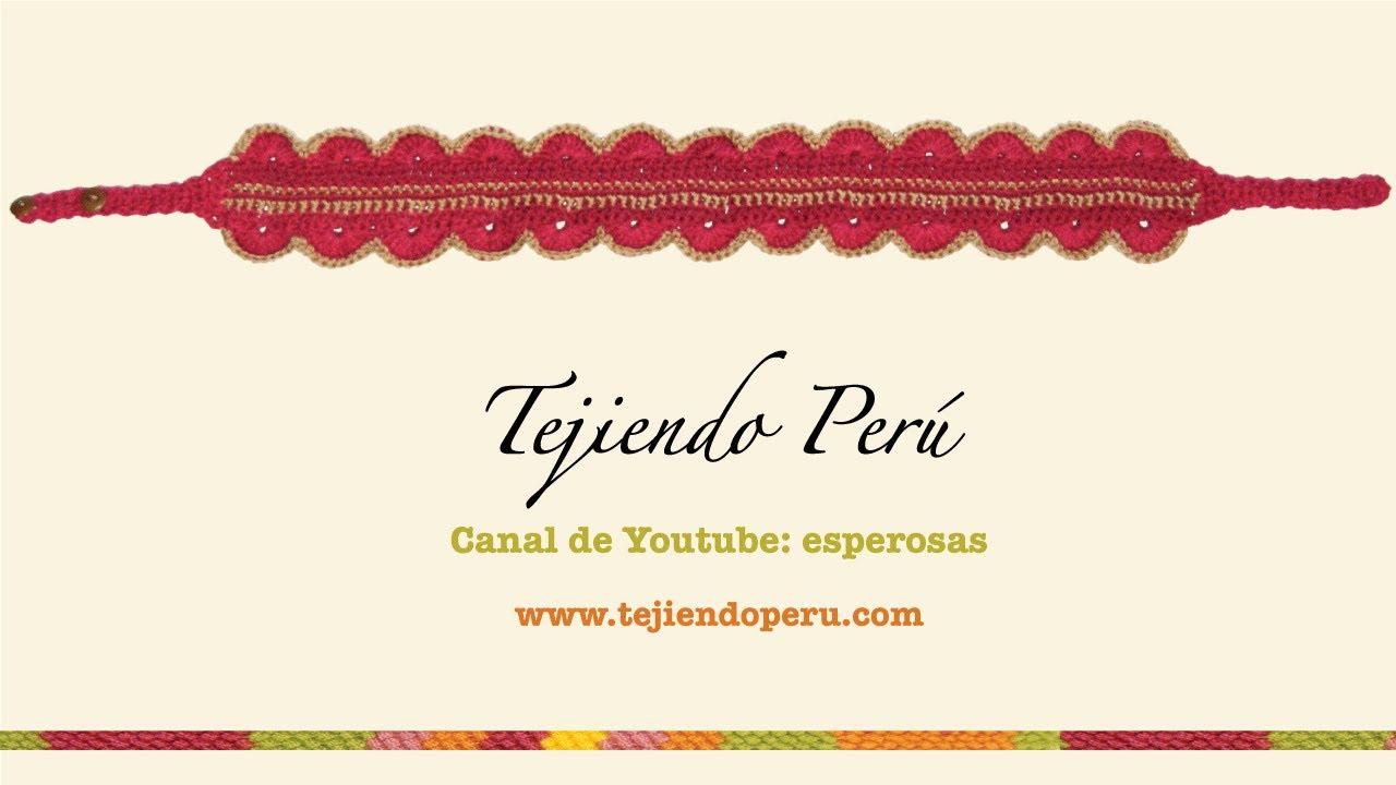 Vincha o diadema tejida a crochet - YouTube