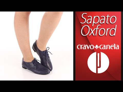 5896eaf7c9 Sapato Oxford Feminino Cravo   Canela - 6060320410 - YouTube