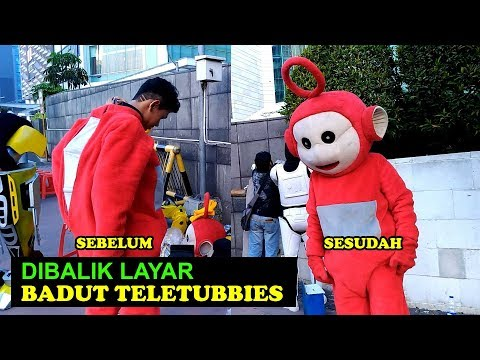 Di Balik Layar Badut Teletubbies. Behind the Scene Teletubbies