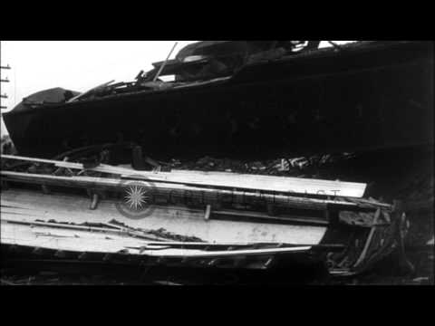 Two night trains collide on the Georgia railroad in Dearing HD Stock Footage
