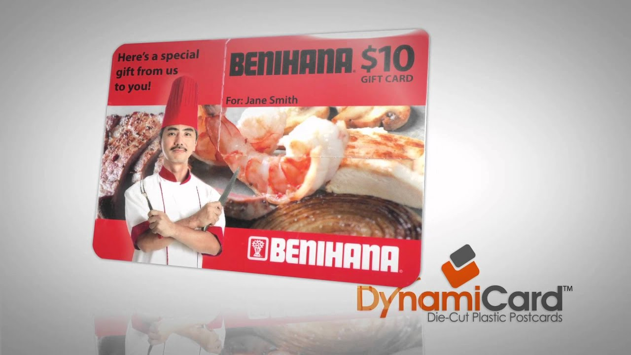 DynamiCard: Plastic Postcard Mailers With Pop-Out Gift Card - YouTube