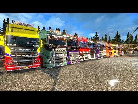 Camiones Europeos   De Dresden, Alemania a Calais, Francia   Multiplayer ETS2