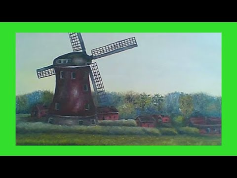 Painting an Old Windmill with ACRYLICS