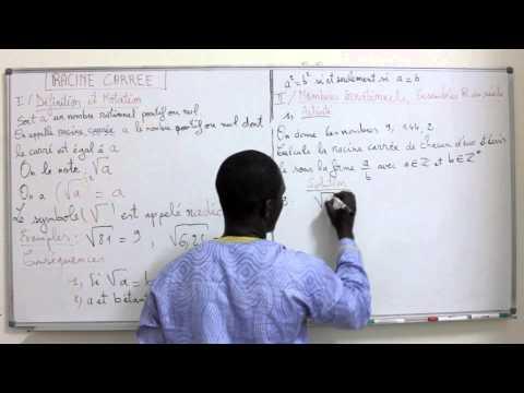 Cours -Troisième - Mathématiques : RACINE CARREE 3eme Partie