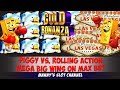 (Mega Big Wins!!) Gold Bonanza by Aristocrat Happy Piggy vs Rolling Action on Max Bet @ Barona