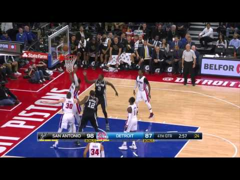 Dewayne Dedmon Puts Up 17 Points & Career-High 17 Boards in Spurs Win