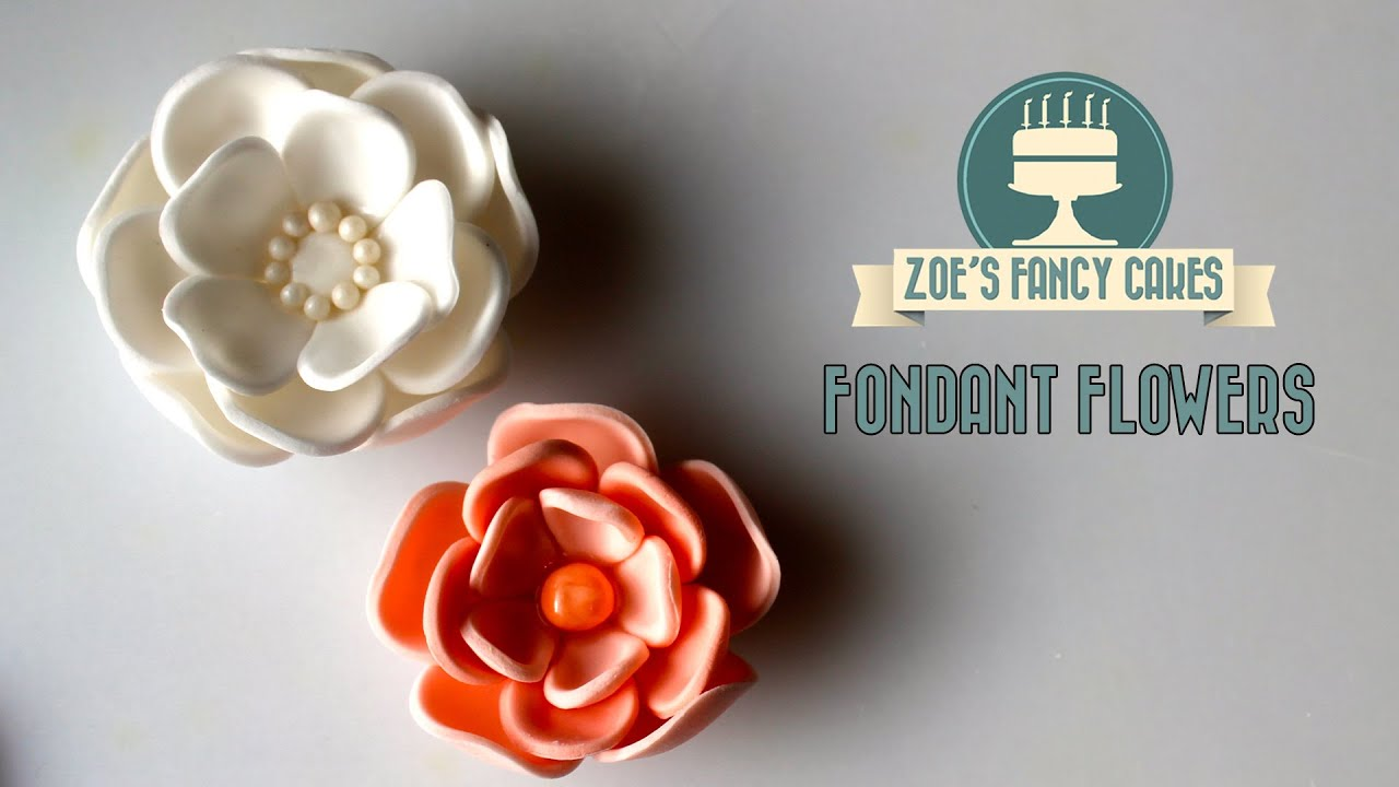 Cake Decorating How To Make Fondant : How to make a fondant flower for your cakes How To Cake ...