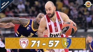 Olympiacos Piraeus - Khimki Moscow region |71-57| ● Full Highlights ● Round 19