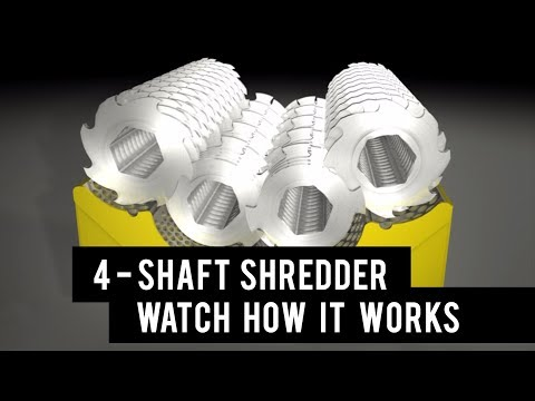 Industrial shredder: how does a four shaft shredder work?