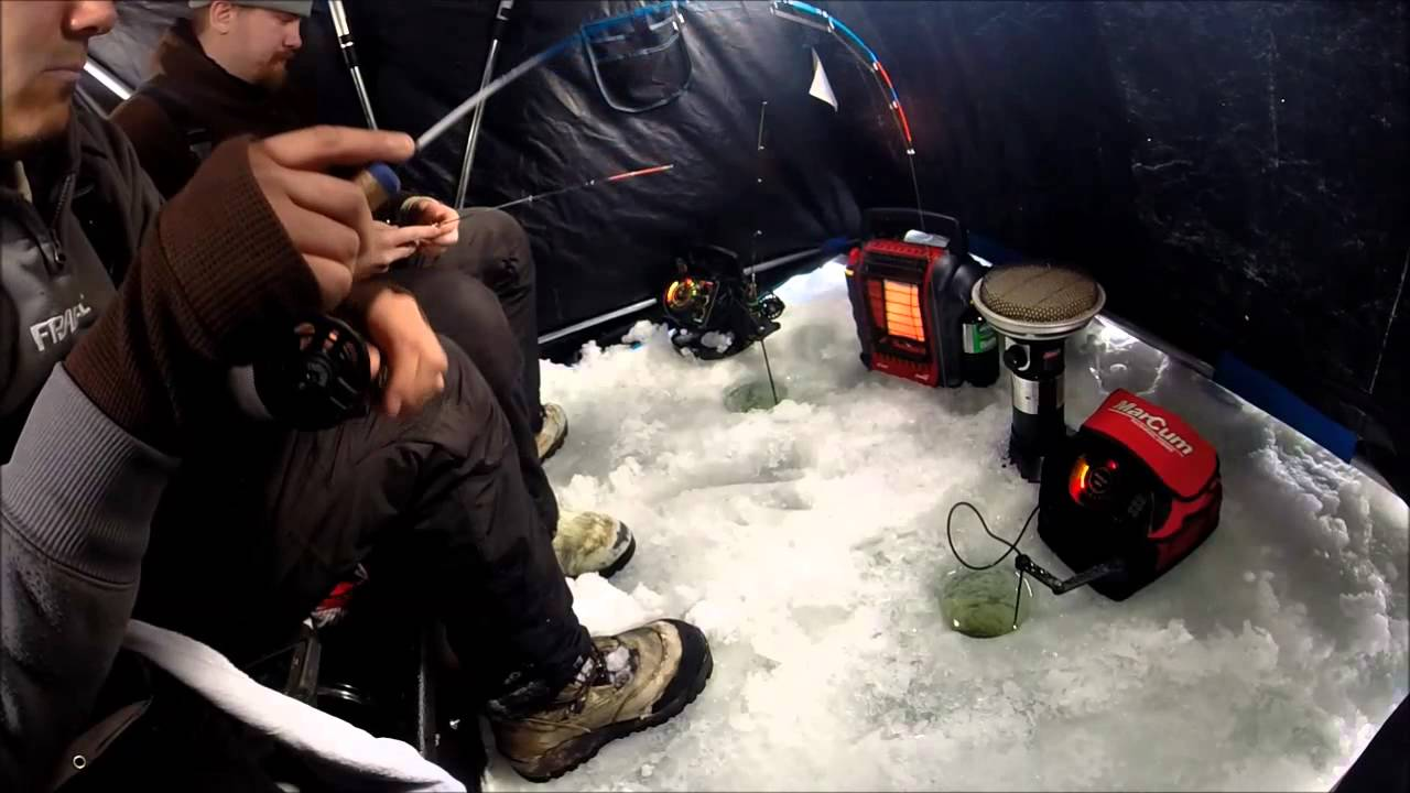 Mid december ice fishing with j and s custom jig 39 s finesse for Ice fishing plastics