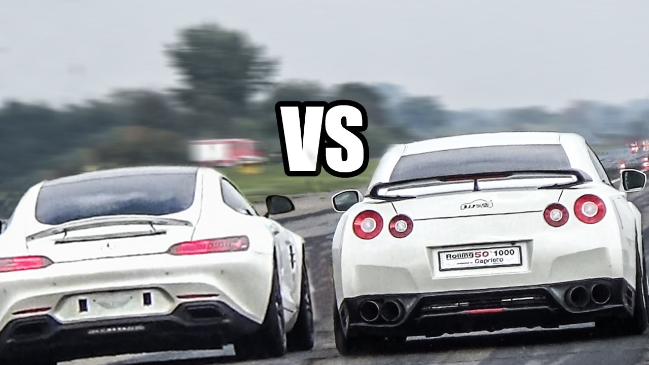 mercedes amg gts vs nissan gtr drag race youtube. Black Bedroom Furniture Sets. Home Design Ideas
