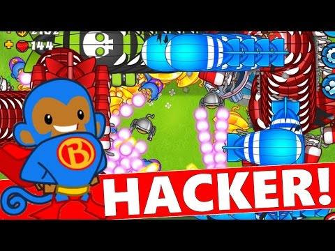 Bloons TD Battles | IMMORTAL HACKER / GLITCHER!?! How Is He Doing This?