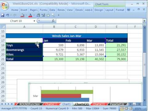 Highline Excel Class 05: Charts, Page Setup, Data Analysis