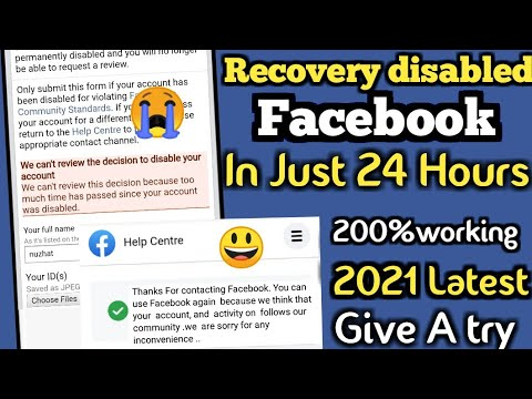 New 2021_Recover\open any disbled Facebook account just 24 Hours_Facebook account disabled...