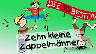 Zehn kleine Zappelmänner - Die besten Spiel- und Bewegungslieder || Kinderlieder