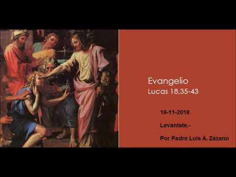 Evangelio del Día  Lunes - Lc 18, 35-43 - 19 Noviembre - Palabras de Fe