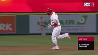Mike Trout destroys baseball 524 feet for 11th homer