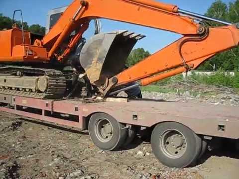 Перевозка гусеничного экскаватора Hitachi 120 (в габарите)