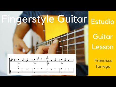 Francisco Tarrega - Estudio In E Minör - Klasik Gitar Dersi - Fingerstyle Guitar Lesson +Tab