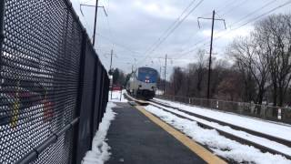 P42 dc 48 leads amtrak Pennsylvanian train in malvern pa